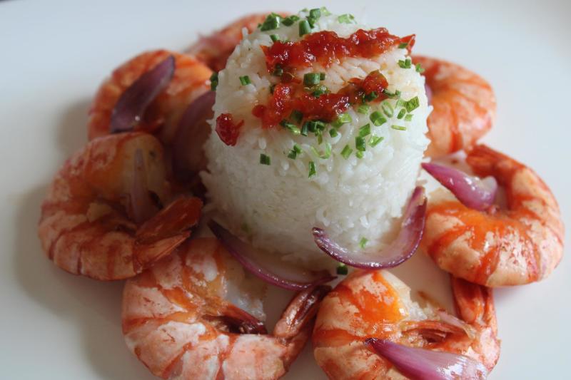 spicy shrimp&Rice