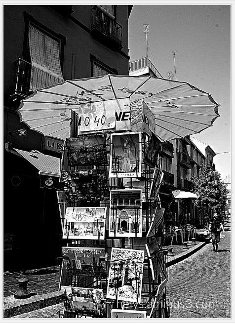 postcard sevilla street