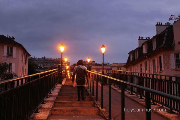 up the de l'avre footbridge st cloud paris F92