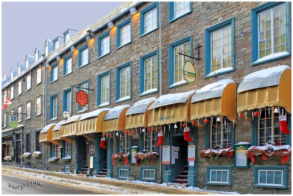 Noël architecture hiver rue