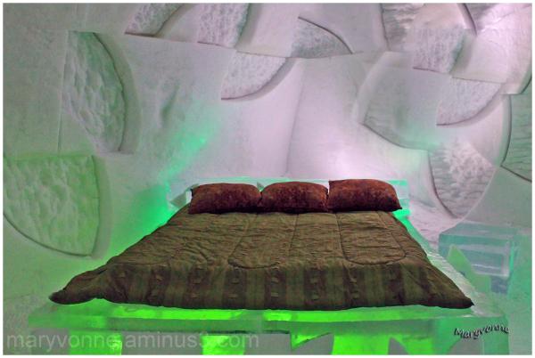 lit glace neige hôtel hiver