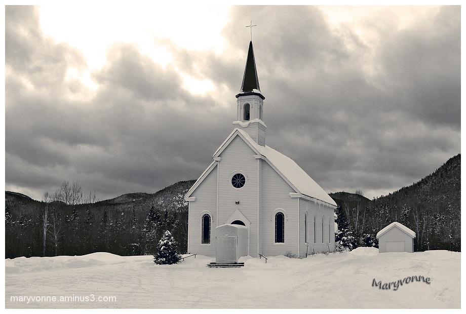 Église de Sagard, Petit Ssaguenay, Québec.