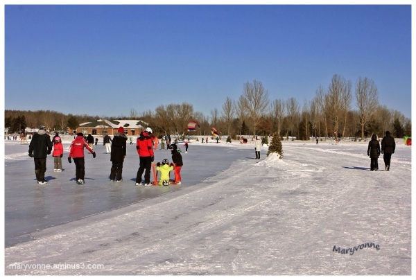 Jour d'hiver sur le lac Boivin