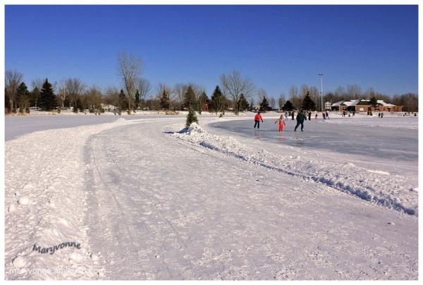 Anneau de glace sur le lac