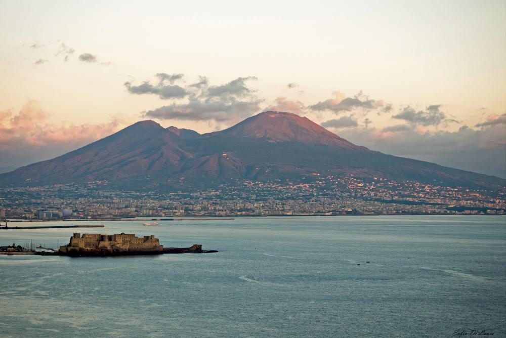 Castel dell'Ovo and Vesuvio