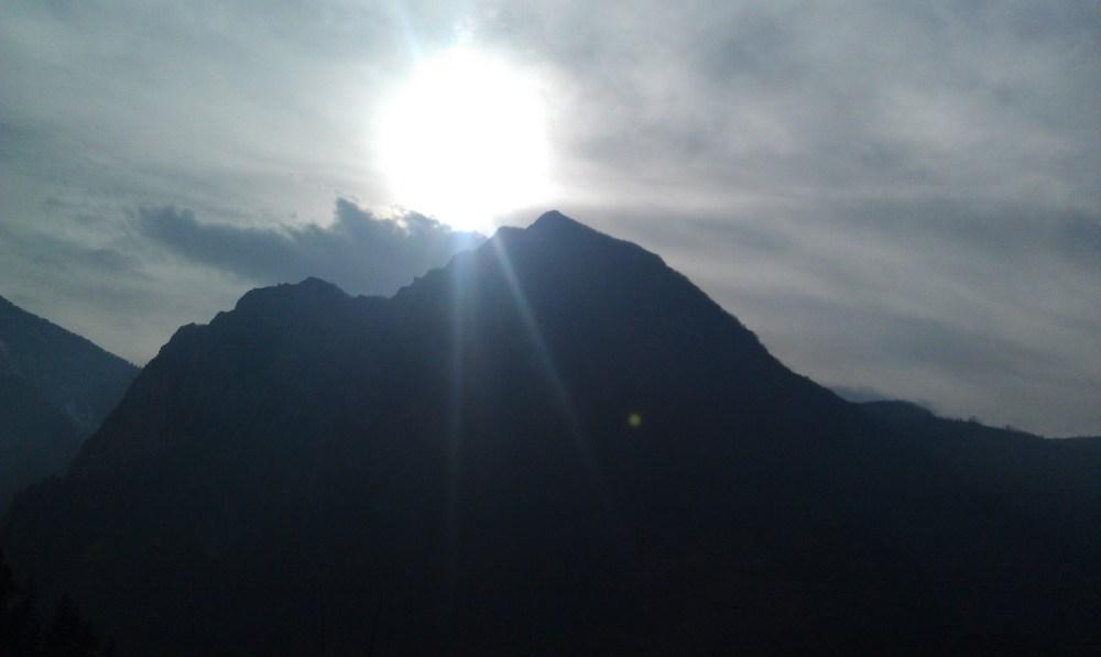 Sun and Mountain
