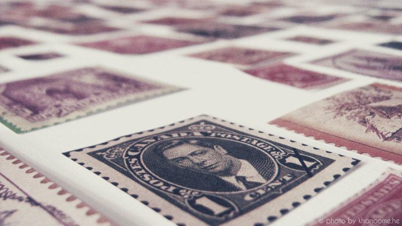 یک تکه تمبر