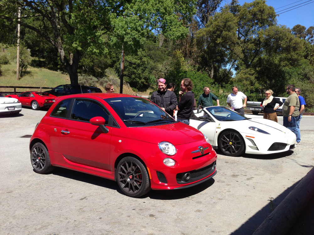 Fiat Abarth and a Ferrari or two.