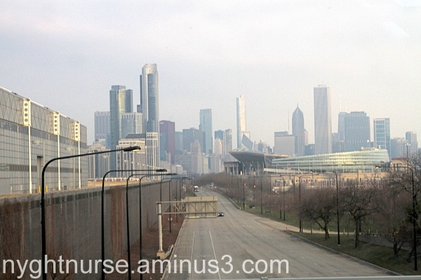 A look at Chicago Skyline from McCormick Place Bri