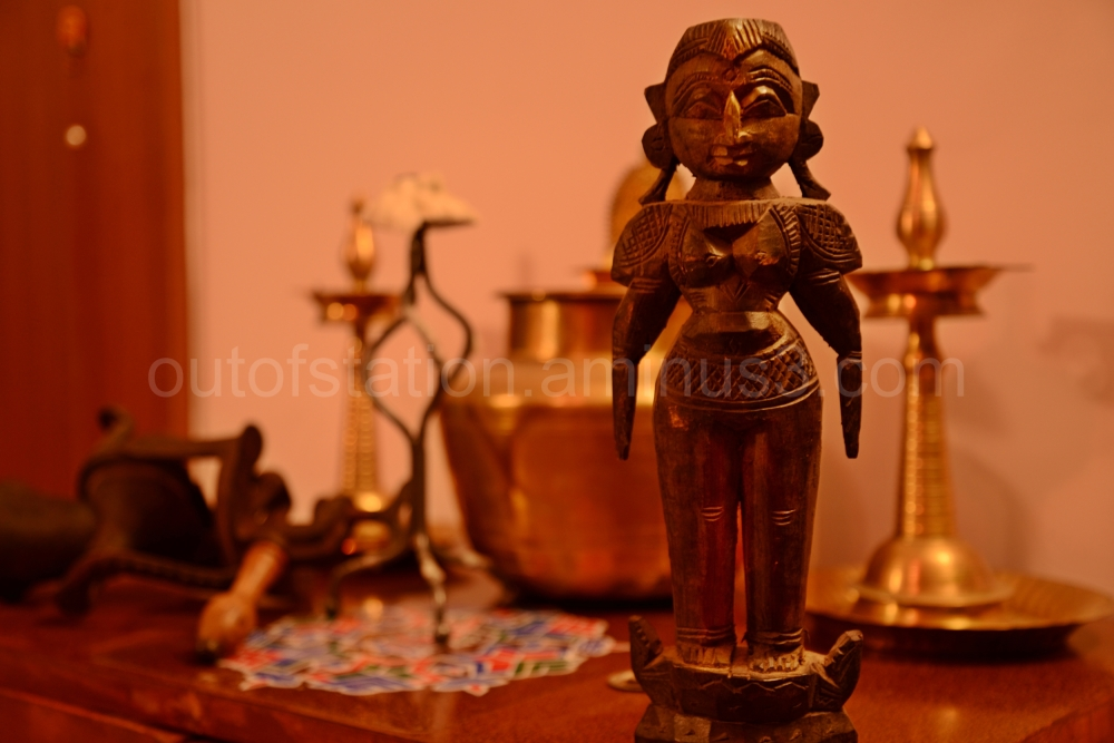 Beautiful wooden doll from Southern India