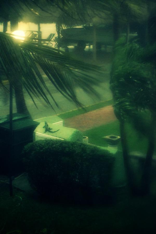 Francisca enjoying the rain