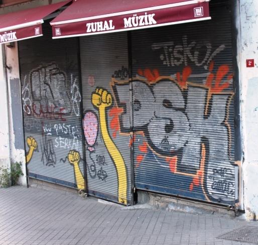 Graffiti istanbul turkey