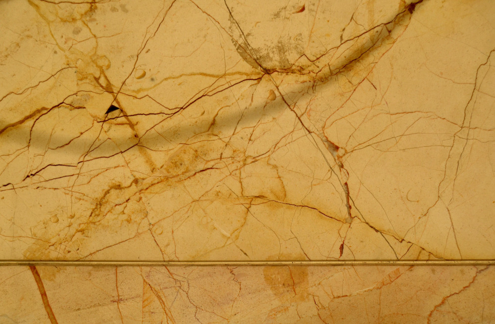 veins of yellow marble