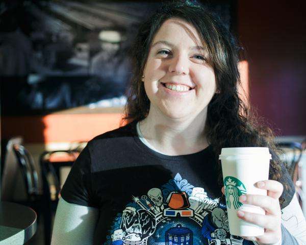 Starbucks before driver's test.