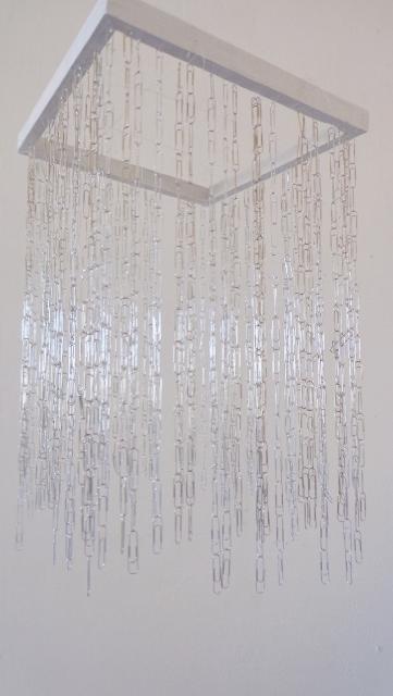 Paper clips art installation (3)
