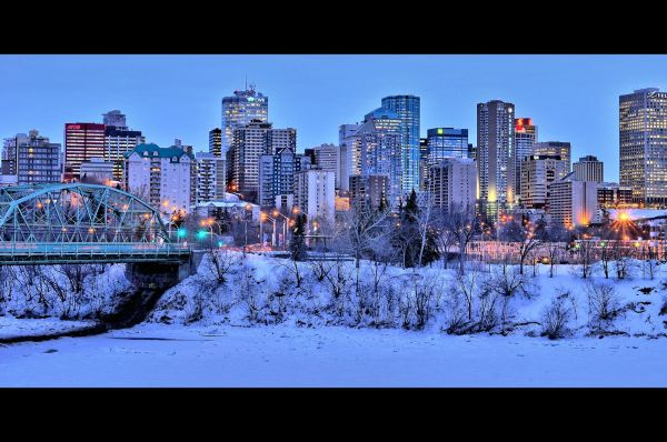 HDR Downtown Edmonton - Rush Hour
