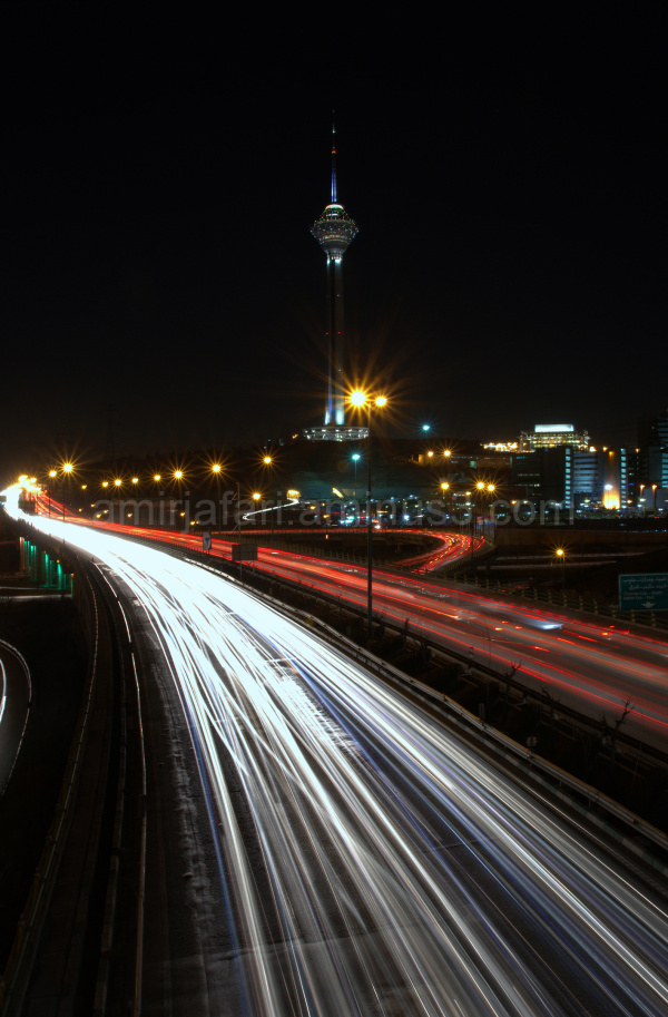 Milad Tower in the night