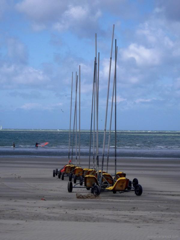 Chars à voile (Boulogne sur Mer - Pas de Calais)