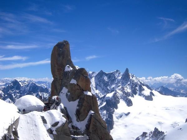 Au sommet de l'Aiguille du Midi (Haute Savoie)
