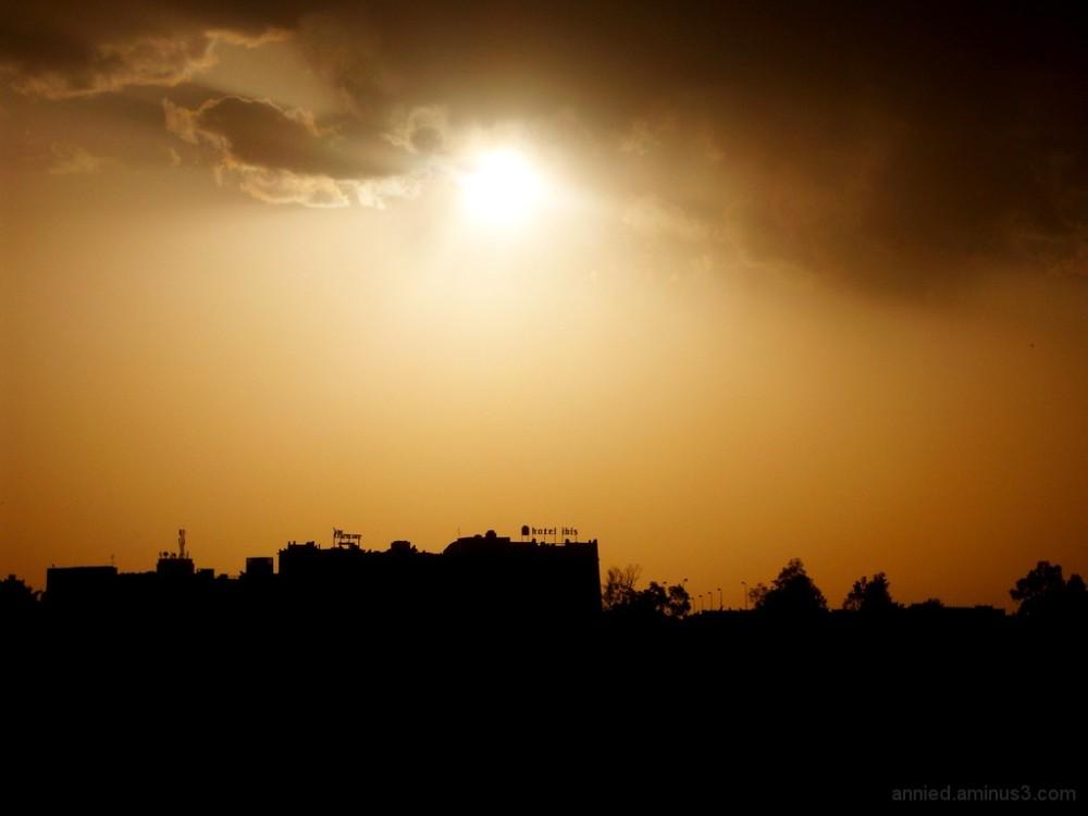 Coucher de soleil sur Ouarzazate (Maroc)