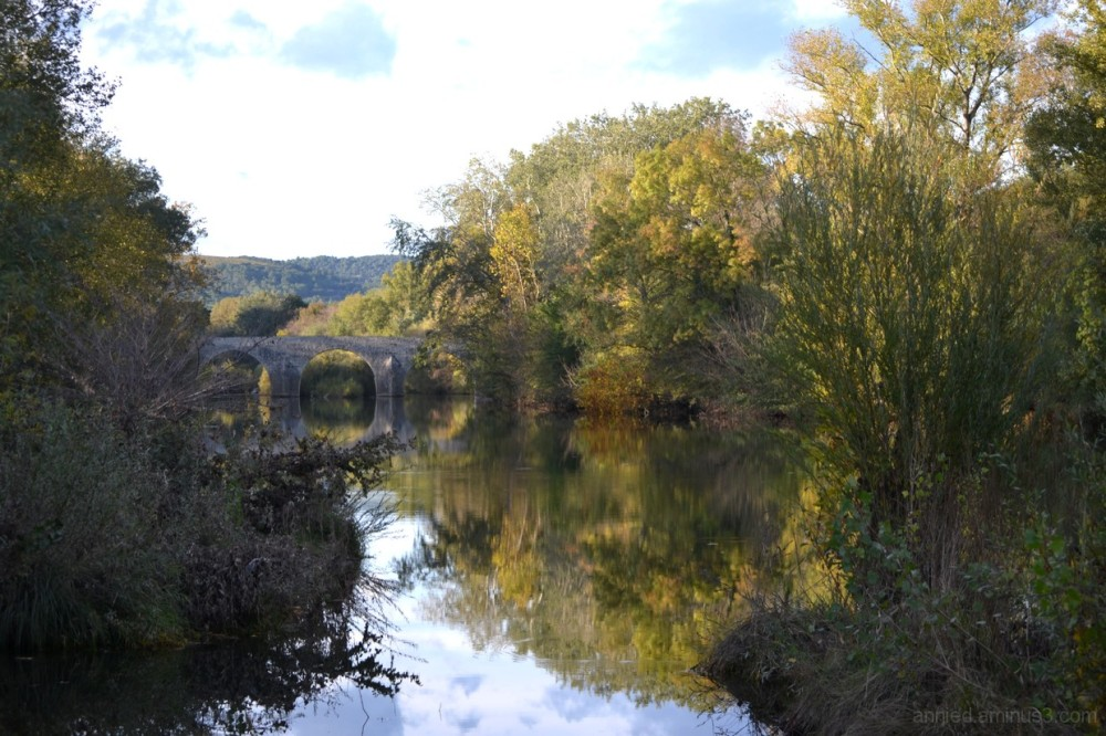 Pont sur la Cèze à La Roque sur Cèze (Gard)