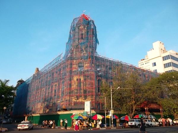 An old building at Rangoon in Burma