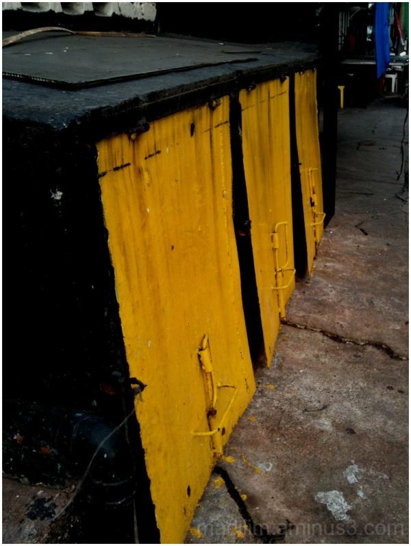 yellowed