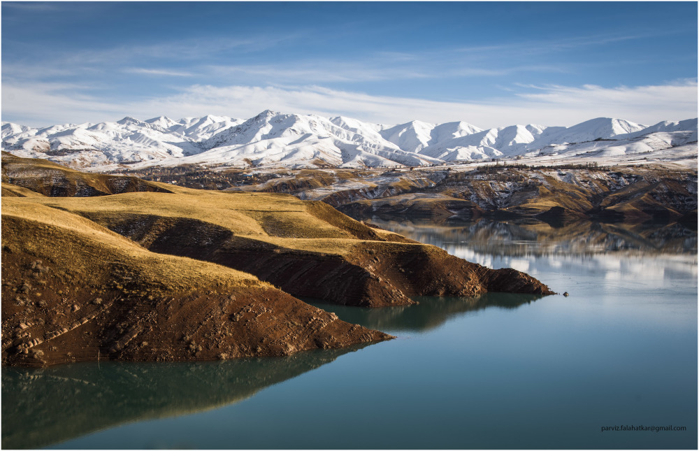 Taleghan dam lake