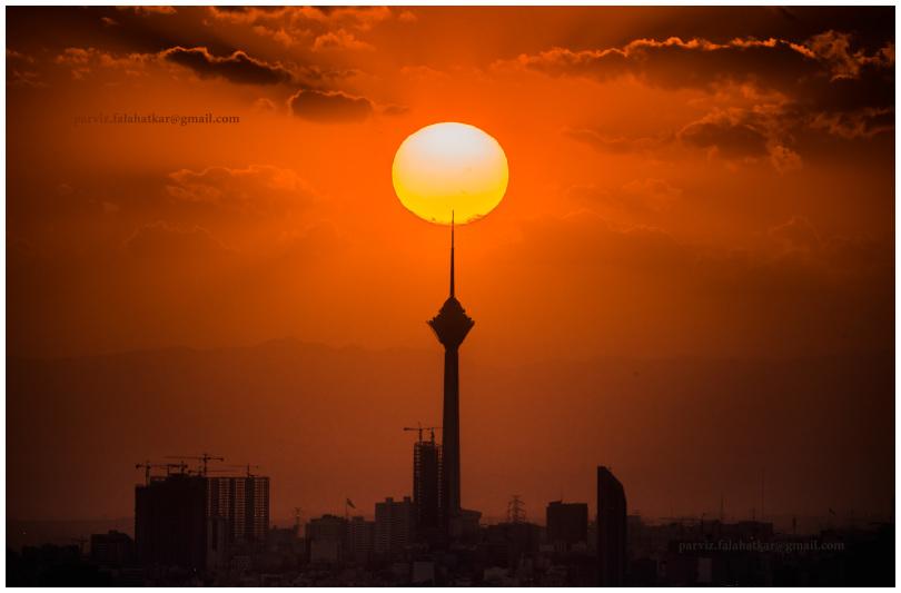 #tehran #milad_tower #parvizfalahatkar #sun_set