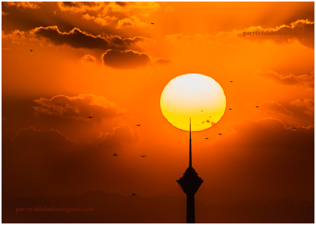 #tehran #milad_tower #parvizfalahatkar #sun_set