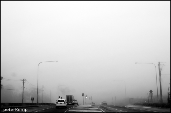 on the road 7 - misty morning...