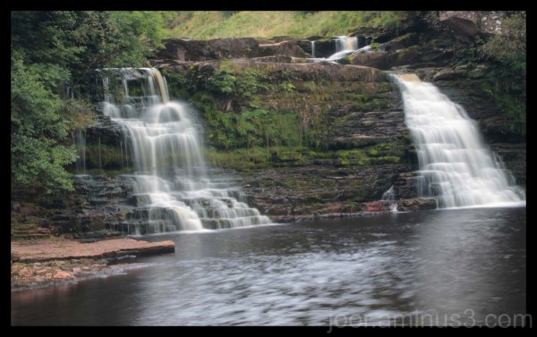 Extended exposure of waterfall, in North England