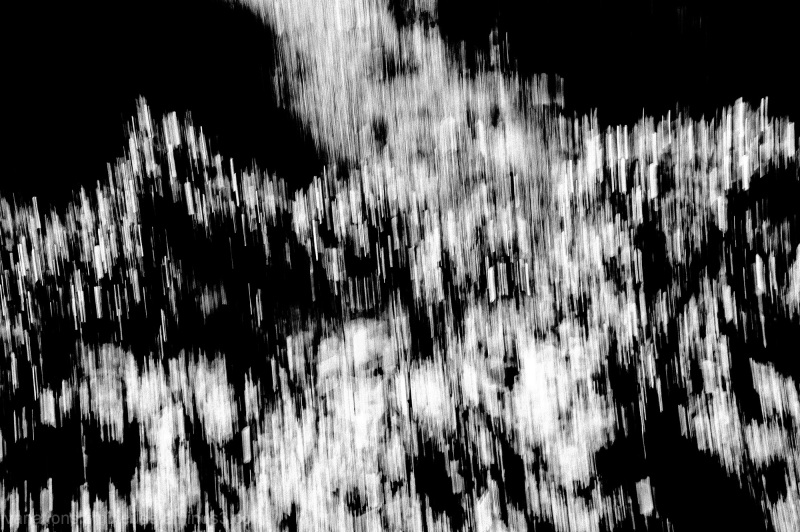 Abstract of paths light and dark.