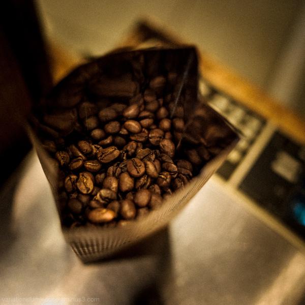 Bag of costa rican coffee.