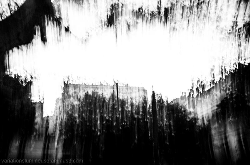 Small square blurred and monochrome.