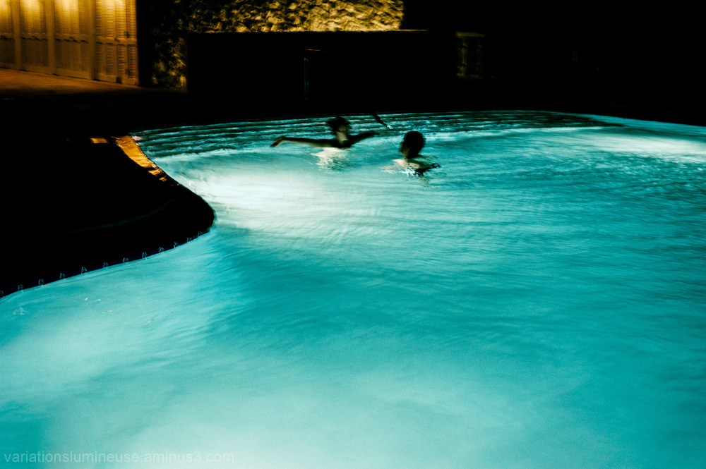 Couple in swimming pool, Florida.