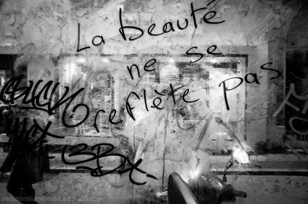 Self portrait with graffiti.