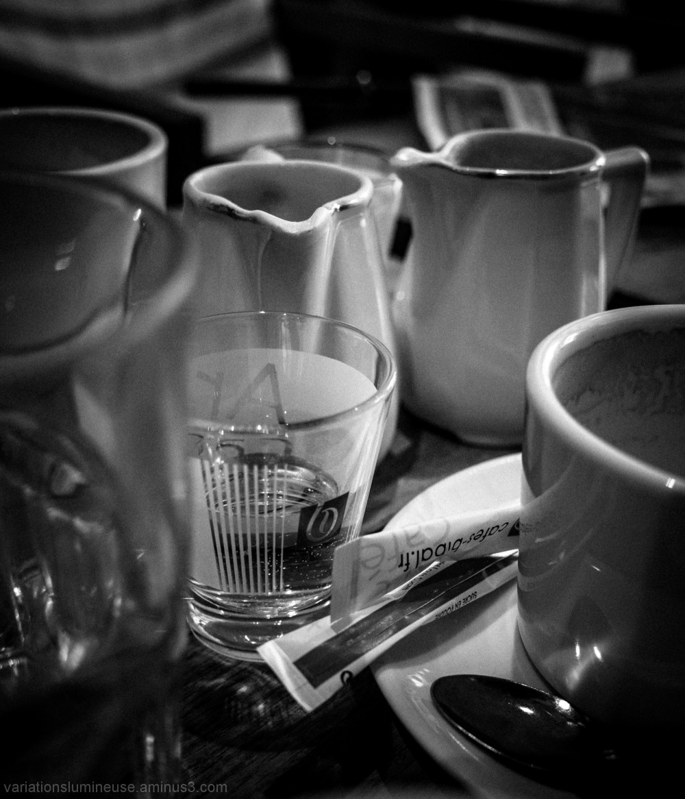 Coffee at a french cafe.