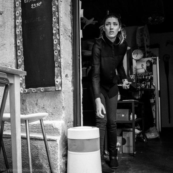 Woman at work.