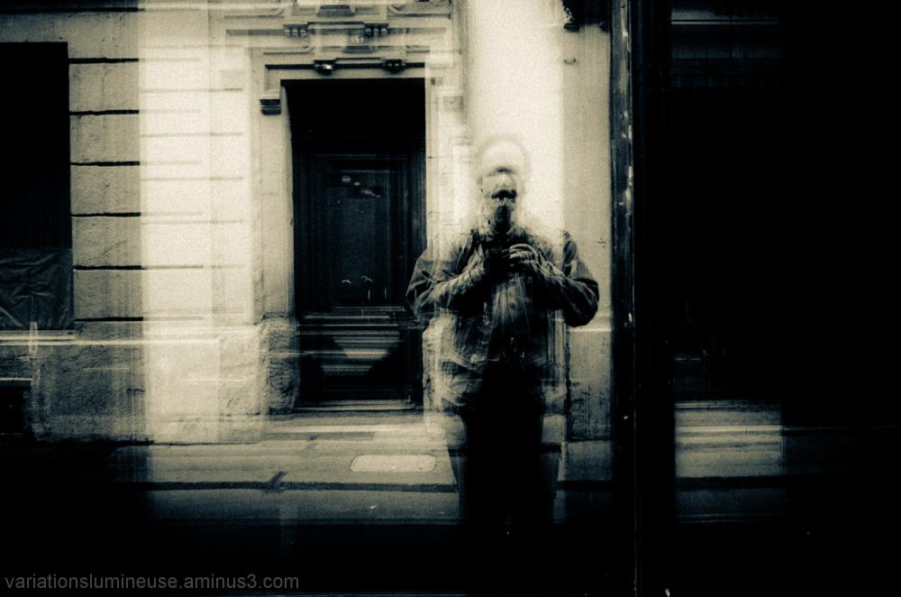 Reflection with door.