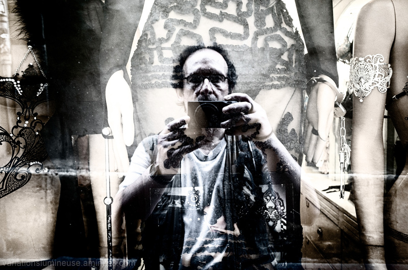 Self portrait with s&m gear.