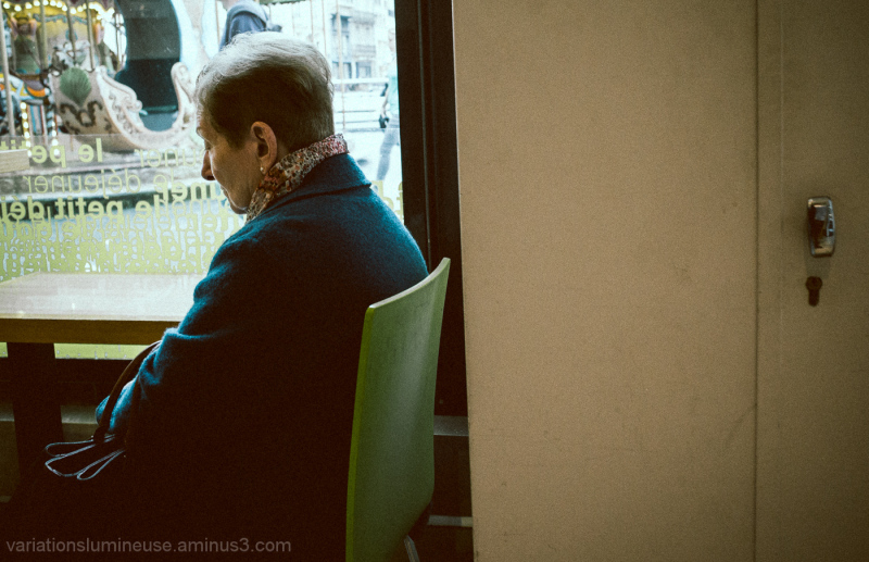 Woman lost in thought.