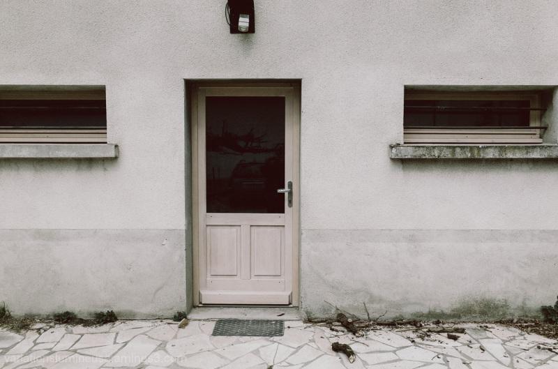 House front door.