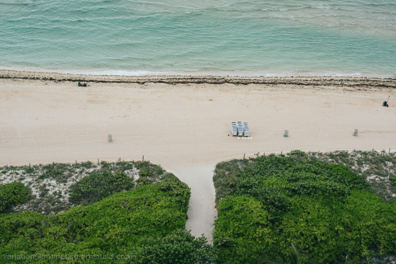 Looking down on Miami Beach