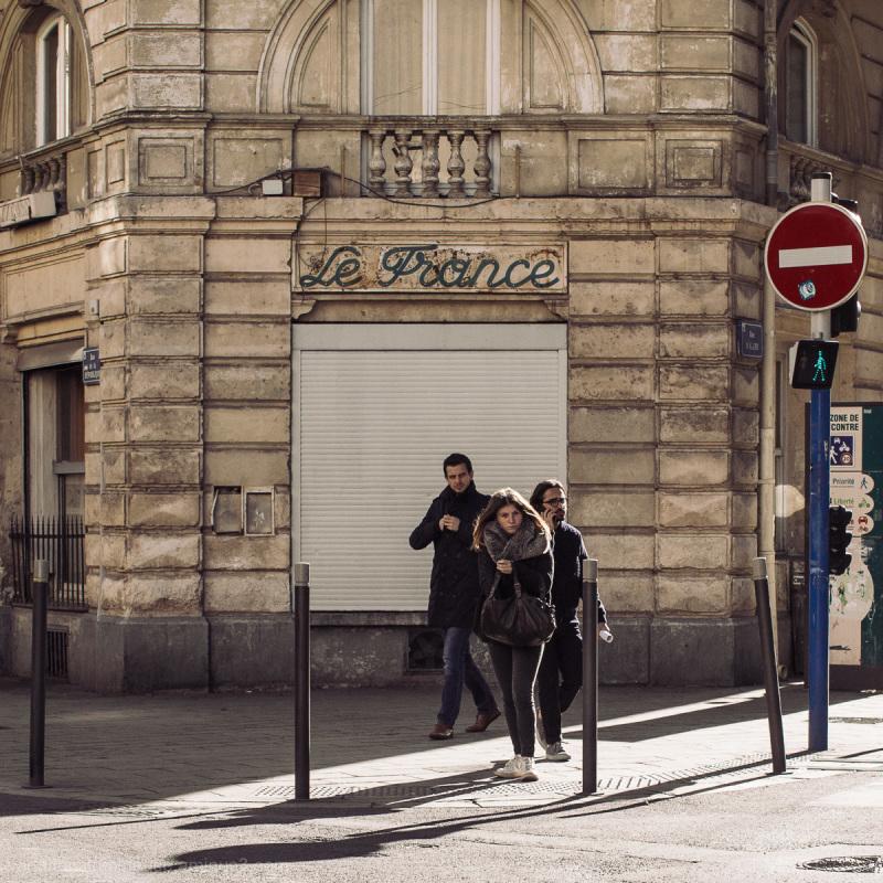 Street corner in Montpellier, France.