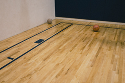 Basketball court with two.