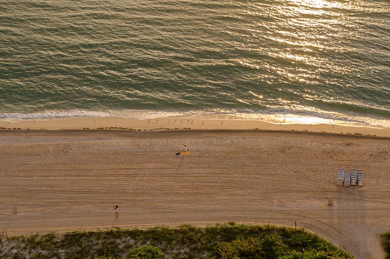Yoga and photos on Miami Beach.