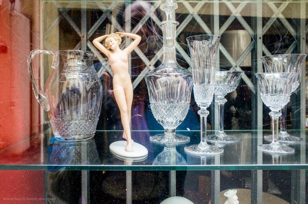 Nude among the crystal.
