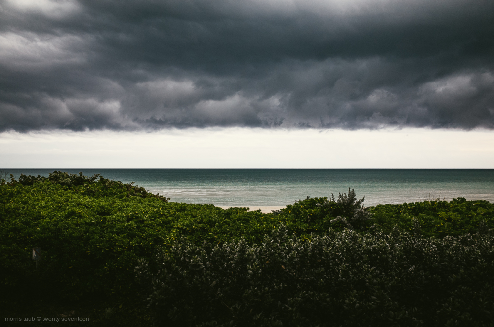 Dark clouds over Miami Beach.