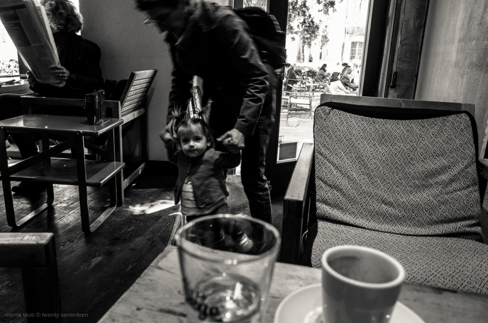Child in neighborhood cafe.
